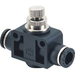 Inline Flow Controls Push To Connect Fitting